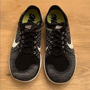 Nike Free 4.0 Flyknit black and grey size 8.5